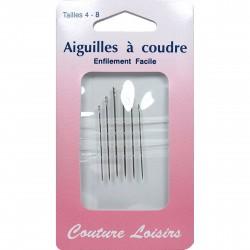 AIGUILLES A COUDRE ENFILAGE RAPIDE 4/8
