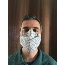 Masque alternatif tissus plissé